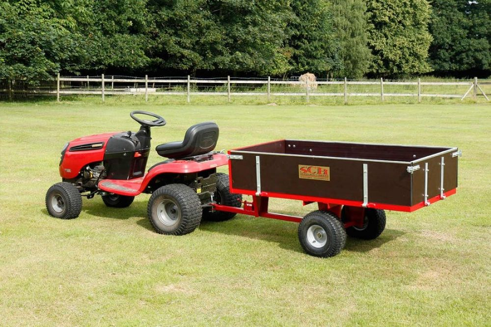 Two Wheel Timber Tipping Trailer